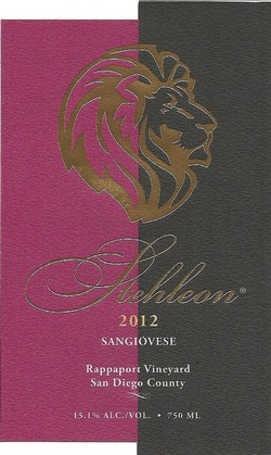 2012 Sangiovese, Rappaport Vineyard