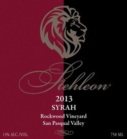 2013 Syrah, Rockwood Ranch