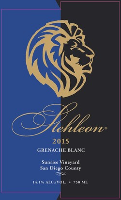 2015 Grenache Blanc, Sunrise Ranch
